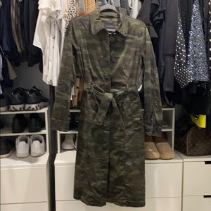 Sanctuary camo trench coat